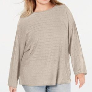 New INC Linen Dolman Sleeve Pullover Sweater